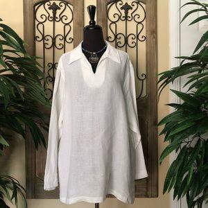 Claiborne blouse 100% linen